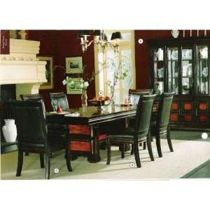 pc two toned finished wood Rosalinda dining table set