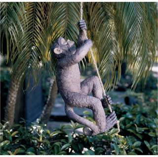 Exotic Climbing Rope Chimpanzee Monkey Wildlife Yard and Garden Statue