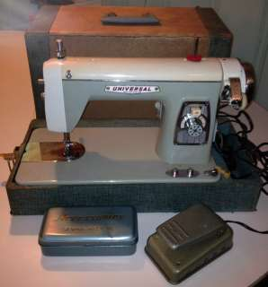 Retro Universal Standard Sewing Machine made in Japan, w/ case and