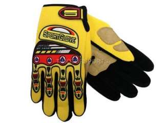 CLEARANCE ADULT/YOUTH YELLOW BIKE ATV MOTOCROSS GLOVES