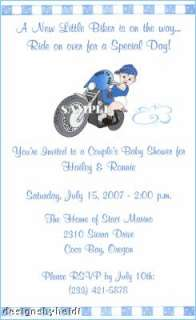 you cards motorcycle baby shower party favor magnets motorcycle baby
