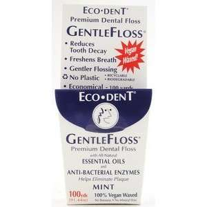 Eco Dent GentleFloss Premium Dental Floss 100 Yards