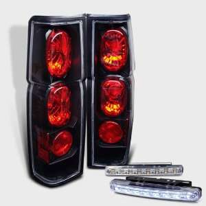 : Eautolight 86 97 Nissan Hardbody Brake Tail Lights + LED Bumper Fog