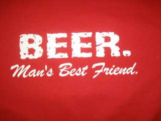 BEER MANS BEST FRIEND Funny T Shirt Bar Cool Humor Tee