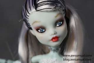 Frankie Stein Monster High Dead Tired Repaint Doll by awsumgal