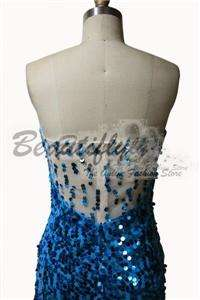 NEW YEAR Elegant Sequins Formal Prom Party Dress