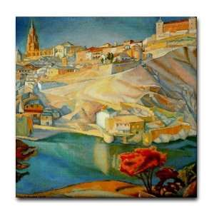 Diego Rivera Toledo Art Tile Ceramic Coaster Mexico Tile