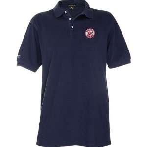 Boston Red Sox Mlb Classic Pique Polo Shirt (Navy Blue) (2X Large