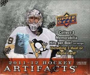 2011 12 11 12 UPPER DECK ARTIFACTS HOBBY FACTORY SEALED BOX