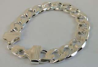 925 STERLING SILVER LINK CHAIN BRACELET, BEAUTIFUL SIMPLE SOLID LINK