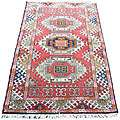 Indo Kazak Hand knotted Red/ Ivory Rug (3 x 5) Today $