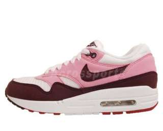 Nike Wmns Air Max 1 Pink Cooler White Gym Red New Womens Casual Shoes
