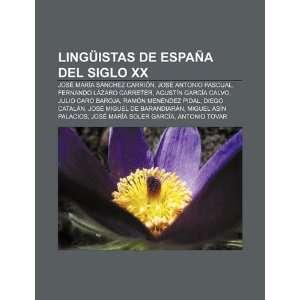 Lingüistas de España del siglo XX José María Sánchez