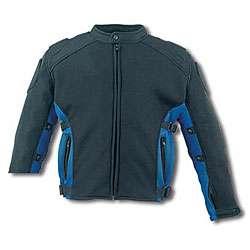 Mens Black/ Blue Air Mesh Motorcycle Jacket