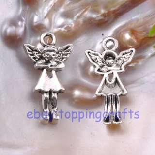 FREE SHIP 10pcs Tibetan Silver Angel Charms 29mm TP0334