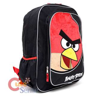 Rovio Angry Birds Large School Backpack Red Bird Plush 3