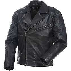 Mossi Mens Police Premium Leather Jacket