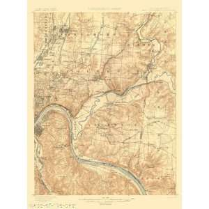 USGS TOPO MAP E. CINCINNATI QUAD OHIO (OH/KY) 1900