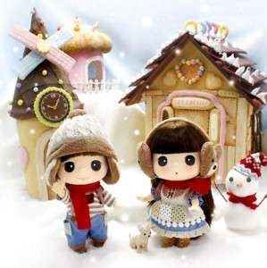 Lovely Cute Collectible Doll 18cm Winter Couple DDUNG