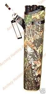 18 3 TUBE CORDURA Archery HIP ARROW QUIVER MOSSY OAK