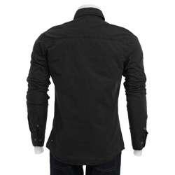 ray Mens Black Military Shirt