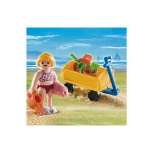 Playmobil Girl with Beach Wagon 4755 Toys & Games