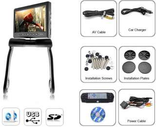 Center Console Armrest Dvd Player Monitor Rotating Screen USB SD