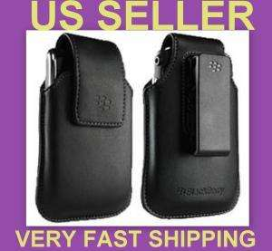 BLACK LEATHER CASE PHONE POUCH SWIVEL HOLSTER for TORCH 9810