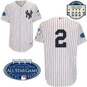 New York Yankees Derek Jeter Authentic Home Jersey Stadium