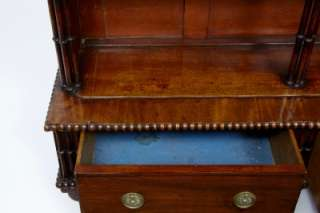 19TH CENTURY ANTIQUE MAHOGANY WATERFALL BOOKCASE