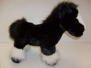 Dan Dee Collectors Choice Black White Horse Pony Plush