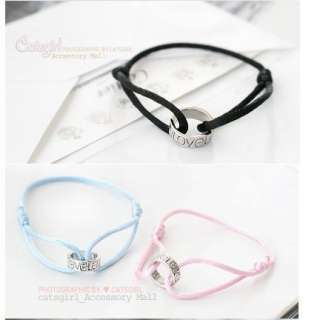 cute girl gift String fashion love Cross Bracelet color