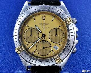 Mens Breitling Chronograph Steel & Gold Wrist Watch C.1990s
