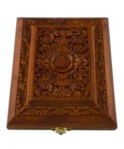 Teak Wood Hand carved Jewelry Box (Indonesia)  Overstock