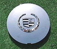 Set  4 NEW Chrome Cadillac Wheel Center Caps Cap Covers