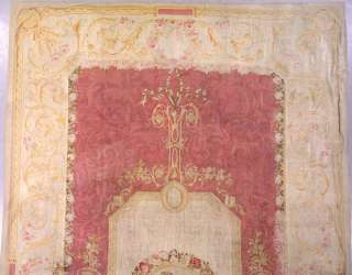 14x22 ANTIQUE 1880S FRENCH AUBUSSON AREA RUG CARPET