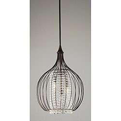 Indoor 3 light Copper/ Crystal Pendant Chandelier