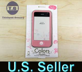 silicone Case Apple iphone 4 w/ Screen Protector baby pink