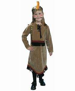 Deluxe Childrens Indian Girl Dress Up Set (Size 2 18)