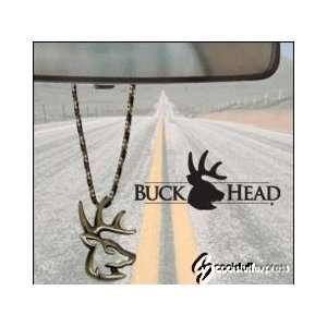 Truck Buck Deer Hunter Brass Rear View Mirror Hanger: Automotive