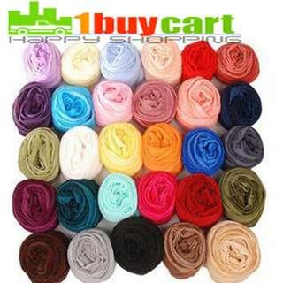 New Girls Womens Fashion Candy Colour Long Soft Scarf Wrap Shawl
