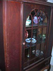Antique Vintage Curio China Cabinet