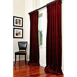 Wine Velvet Curtain Double wide 108 inch Curtain Panel