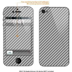 Protective Decal Skin Sticker for AT&T & Verizon Apple Iphone 4 case