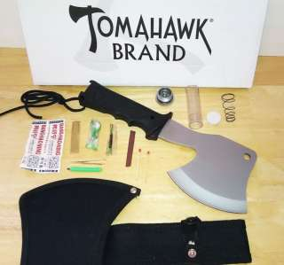 Survival Axe Tomahawk With Nylon Sheath w/ Survival Kit