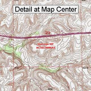 USGS Topographic Quadrangle Map   Wamego SW, Kansas (Folded/Waterproof