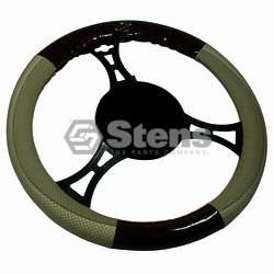 STEERING WHEEL COVER UNIVERSAL TAN/WOODGRAIN Golf Cart