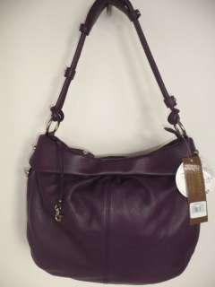 Adrianna Purple Hobo Satchel Handbag+Wristlet retail $255 New/Tag