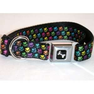 Buckle Down Paw Print Black/Multicolored Large 15 26 Dog
