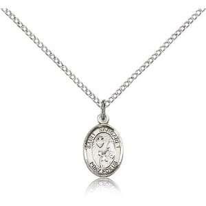 925 Sterling Silver St. Saint Margaret Mary Alacoque Medal Pendant 1